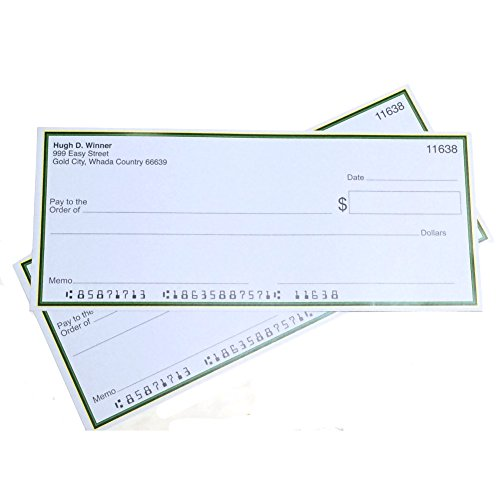 Forum Novelties Jumbo Fake Checks, Multicolor (Fake Jumbo)