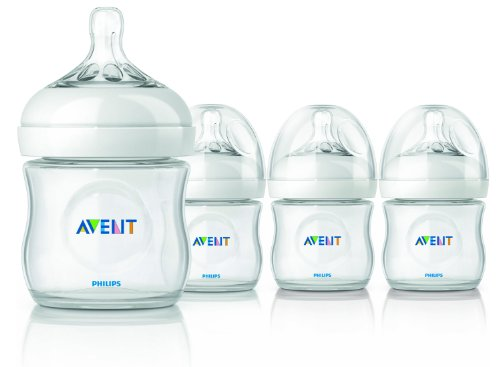 - Philips AVENT BPA Free Natural Polypropylene Bottle, 4 Ounce, 4 Pack