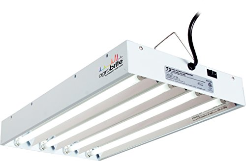 Agrobrite FLT24 T5 Fluorescent Grow Light System, 2 Foot, 4 Tube