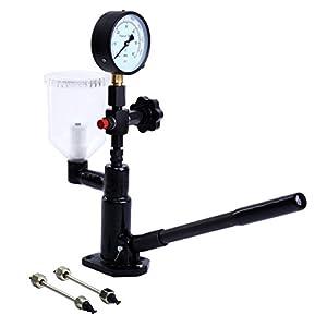 PanelTech Diesel Injector Nozzle Pop Pressure Tester Fuel Test Dual Read 60Mpa/8000psi Gauge Adjusting Injector Nozzle Pressure and Testing with Filter