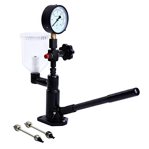 PanelTech Diesel Injector Nozzle Pop Pressure Tester Fuel Test Dual Read 60Mpa/8000psi Gauge Adjusting Injector Nozzle Pressure and Testing with Filter by PanelTech