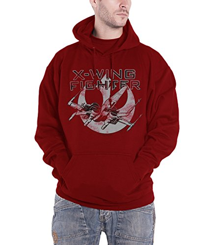 Star Wars Hoodie X-Wing Fighter Official Mens Red Size XXL