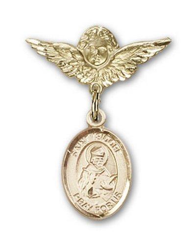 Icecarats Or Bijoux De Créateurs Rempli R. Isidore De Séville Broches Badge Charme D'Ange 1 X 3/4