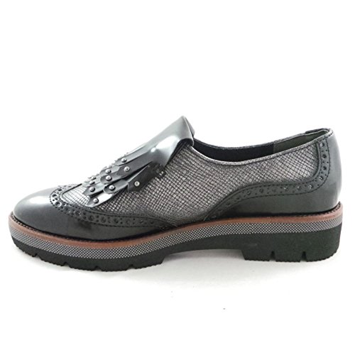 Marco Tozzi 2/24703/39 Lizza Black and Pewter Loafer eHrOg