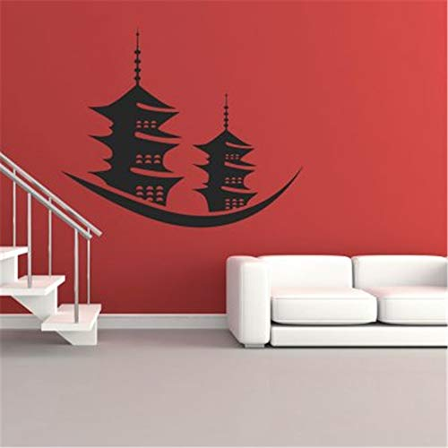 butuma Wall Stickers Quotes Vinyl Art Room Mural Posters Japanese Style and Pagodas