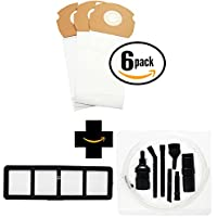 18 Replacement AS Vacuum Bags 68155 & EF-6 Filter 69963 with 7-Piece Micro Vacuum Attachment Kit for Eureka - Compatible with Eureka AirSpeed AS1000A, Eureka AS1000A, Eureka AS1001A, Eureka AS1051A, DCF-21 Dust Cup Filter, Eureka AS1050, Eureka AS1053AX, Eureka AirSpeed Gold AS1001A, Eureka AirSpeed AS1050, Eureka AirSpeed AS1051A