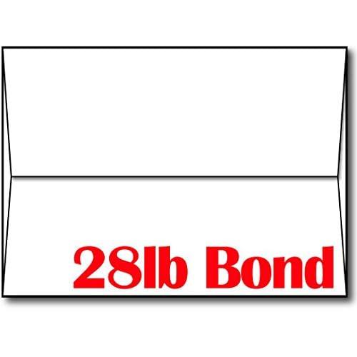 "28lb/70lb Bright White A7 Envelopes (5 1/4"" x 7 1/4"") - 100 Envelopes - Desktop Publishing Supplies™ Brand Envelopes"