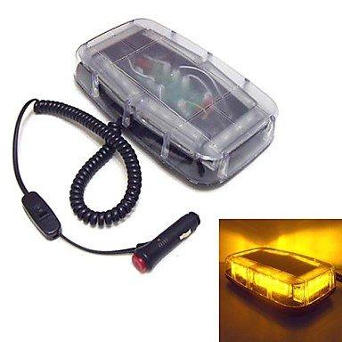LIN HU&HU 0916 blinkende LEDs 24 Mini-Lichtbalken wasserdichte Magnet Notbeleuchtung (optional Farben) , Yellow-White