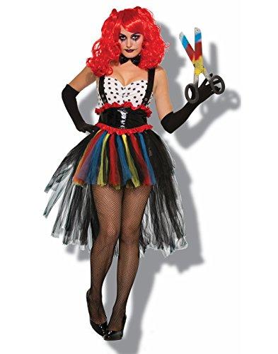 [Adult Evil Girlie Clown Costume] (Evil Clown Costume Girl)