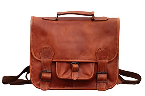 LE CARTABLE A DOS M Naturel Vintage scuola satchel in pelle con bretelle dimensione (M) PAUL MARIUS Descuento Grande Barato aM8Ee6Dh