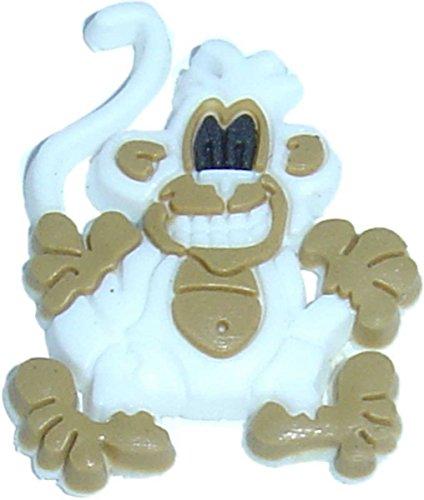 Monkey in White Shoe Rubber Charm Jibbitz Croc Style