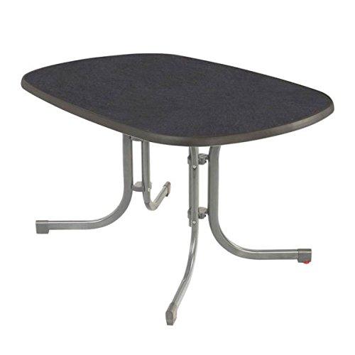 MFG mesa plegable 150 x 90 cm plata de pizarra: Amazon.es: Jardín
