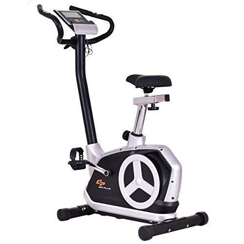 Goplus Upright Exercise Bike Flywheel Bike Bicycle Magnetic Resistance Cardio Fitness Equipment with Phone Holder Superbuy
