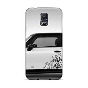 Galaxy S5 Case Cover With Shock Absorbent Protective QRR2505lLUW Case