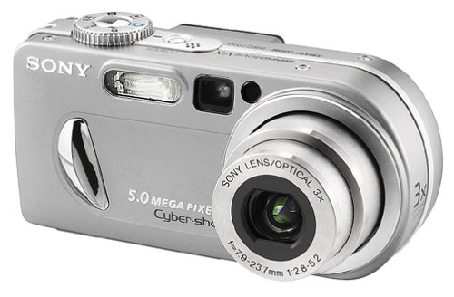 Sony DSCP10 Cyber-shot 5MP Digital Camera w/ 3x Optical Zoom
