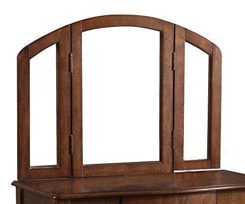 (Acme Furniture 90096 Maren Trifold Vanity Mirror, Oak)