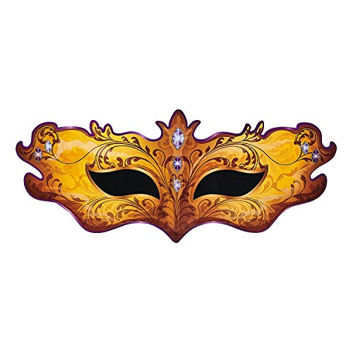Fun Express - Masquerade Mask Standup for Mardi Gras - Party Decor - Large Decor - Floor Stand Ups - Mardi Gras - 1 -