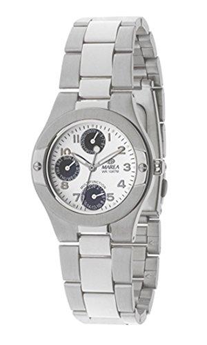 B34164/3 Reloj Marea Señora, analógico, multifunción, caja y brazalete de acero, sumergible 100 metros, garantía 2 años.: Amazon.es: Relojes