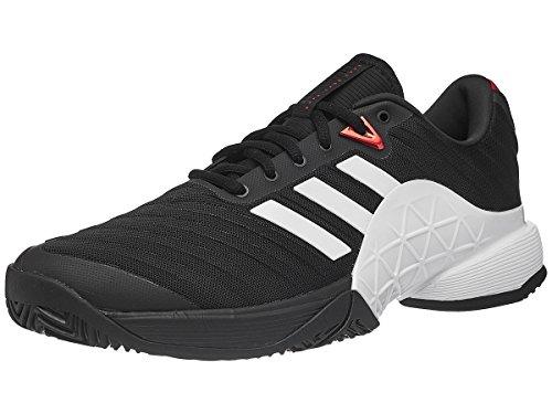 - adidas Men's Barricade 2018 Tennis Shoe, Core Black/White/Scarlet, 10.5 M US