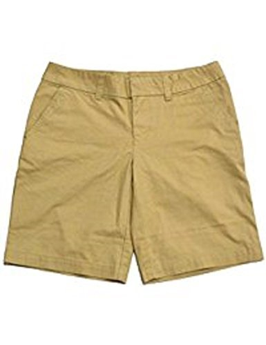 Tommy Hilfiger Womens Flat Front Walking Shorts Dove Grey (Travel Khaki, 8)