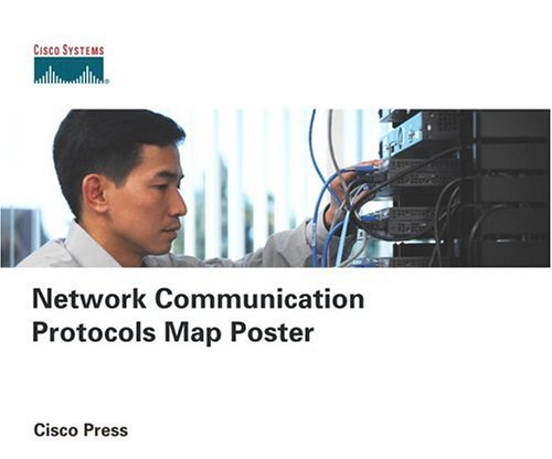 Network Communication Protocols Map Poster-cover