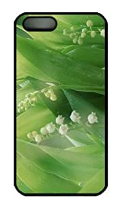 Case For Sam Sung Galaxy S5 Cover - Customized Unique Design Lily Of The Valley With Water Dr...