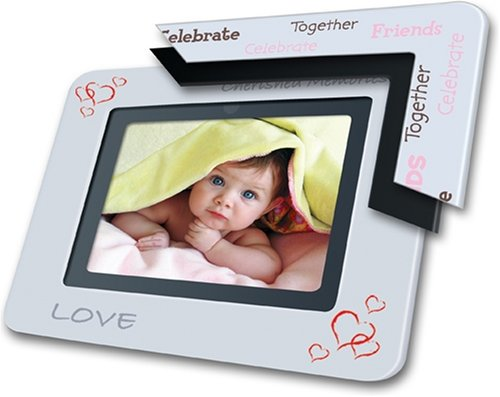 Coby 7-Inch Widescreen Digital Photo Frame with MP3
