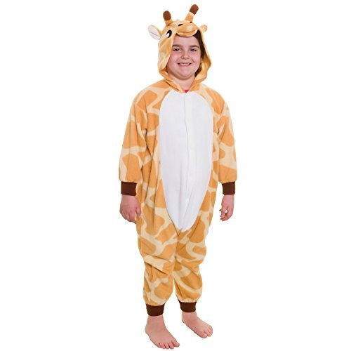 [Silver Lilly Kids Giraffe Animal Costume - Childrens Plush One Piece Pajamas (T) by Silver Lilly] (Child Plush Giraffe Costumes)