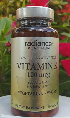 Vegan Vitamin K by Radiance Platinum (100mcg Preservative Free) by RADIANCE