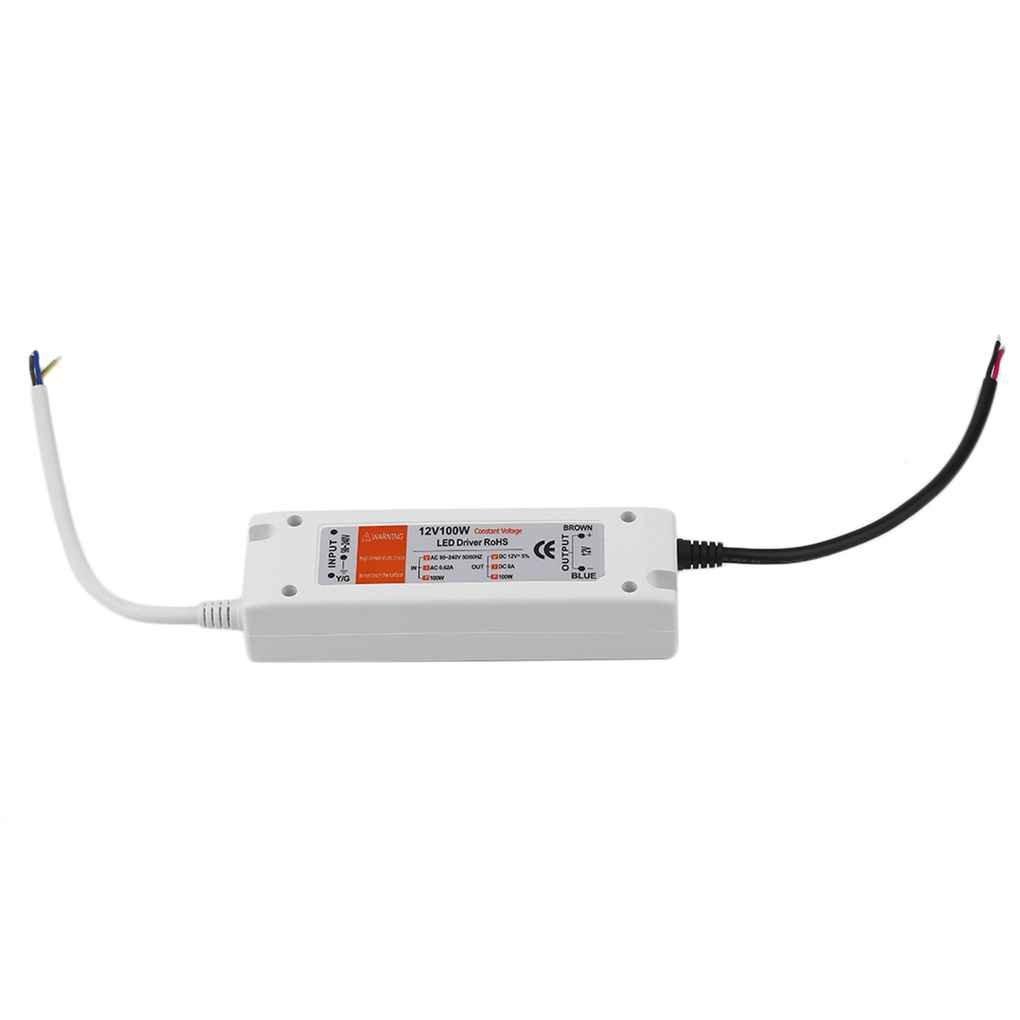 Mengonee 18W/28W/48W/72W/100W Fuente de Alimentació n DC 12V Controlador LED Adaptador del Transformador Interruptor de Protecció n de Sobre Voltaje