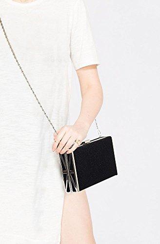 Black Women Design With New Shinny 1 Handbag Bag Bag Designer Chain Ladies Evening Clutch Glittery Box SZ4Rp4