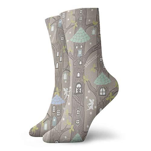 SuBenSM Rustic Lodge Bear Moose Ankle Socks Casual Cozy Crew Socks for Men, Women, Kids