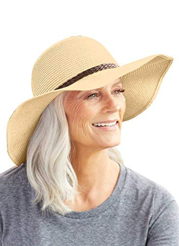SunLily Women's Roll-n-Go Sun Hat, Tan, One Size (Travel Hat)