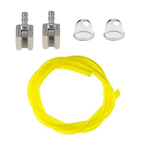 NIMTEK Primer Bulb Fuel Filter Fuel Line Hose Tube for Honda GX22 GX25 GX31 GX35 Rototiller String Trimmer Blower Water Pump Cutter
