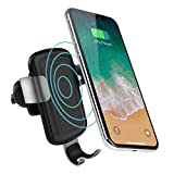 QI Wireless Car Charger Mount Air Vent Phone Holder olagoya, Auto-Clamping Fast Charging Holder iPhone X/8/8 Plus, Samsung Galaxy S9/S9 Plus/ S8/S8...