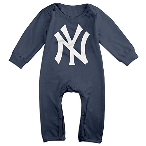 HOHOE Babys Yankees Logo Long Sleeve Bodysuit Outfits 6 M (Power Rangers Outfit)