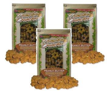 (3 Pack) Pumpkin Crunchers Dog Treat Peanut Butter, 14 Ounces each