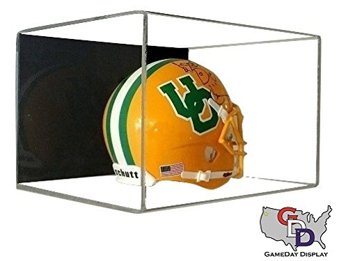 Acrylic Wall Mount Mini Helmet Display Case by GameDay Display - Mini Helmet Wall Mount