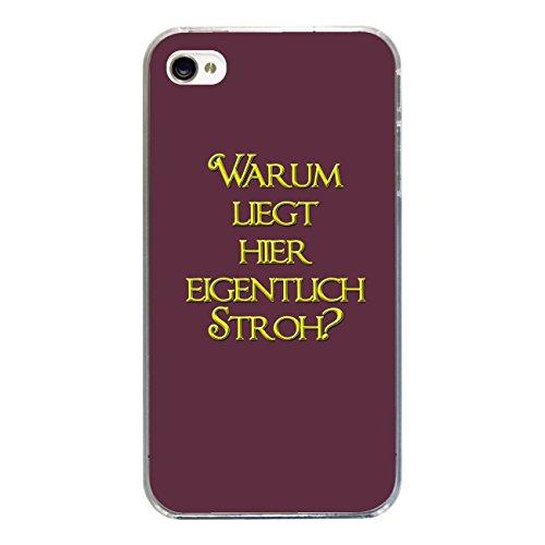 "Disagu Design Case Coque pour Apple iPhone 4 Housse etui coque pochette ""Warum liegt..."""