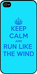 Keep Calm And Run Like the Wind-Hard Black Plastic Snap - On Case with Soft Black Rubber Lining-Apple Iphone 5C ONLY- Great Quality! by icecream design