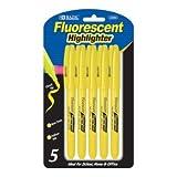 BAZIC Yellow Pen Style Fluorescent Highlighter