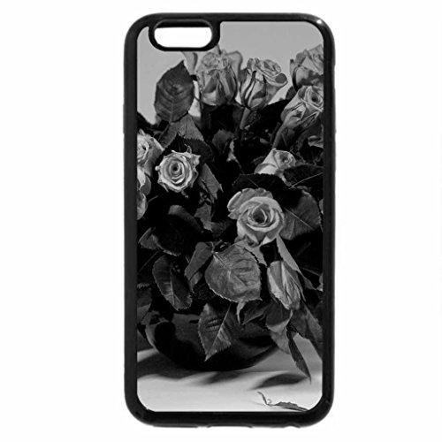 iPhone 6S Plus Case, iPhone 6 Plus Case (Black & White) - Bouquet of fresh roses
