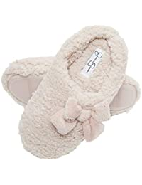 Womens Plush Marshmallow Slide On House Slipper Clog with Memory Foam