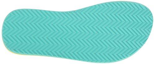Teva Womens Deckers Flip-Flop Magical Leaves Ocean Wave