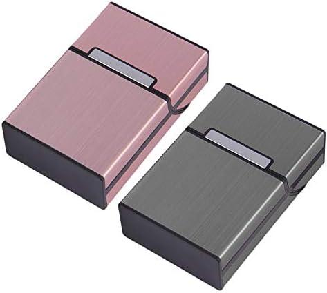 Tragbare Zigaretten schlanke Aluminium Zigarettenetui Zigarre Tabak Inhaber Box Vorratsbeh/älter Rauchen Zubeh/ör grau