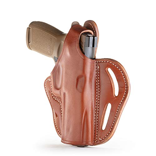 1791 GUNLEATHER - Thumb Break Holster fits Sig Sauer P220, P226, P227, P320, SP2022 - Right Hand OWB Leather Gun Holster for Belts is Available in Stealth Black and Classic Brown (BHX-5)