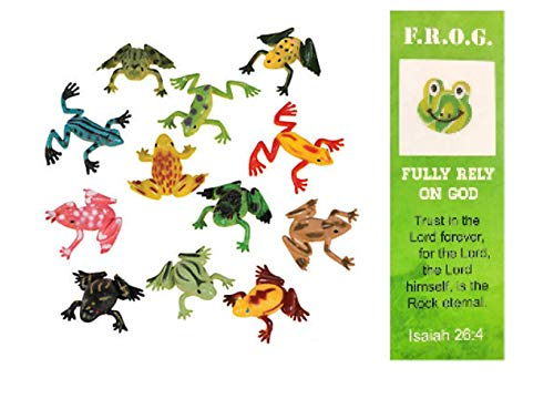 Mini Vinyl Frogs With Frog Bookmark (1 Pack of 72)