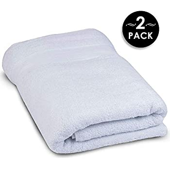 Super Thick and Thirsty 1,000 GSM Turkish Cotton Bath Sheets - Elite Hotel and Spa Quality Organic Cotton Towels (2 Pack, 30x60)