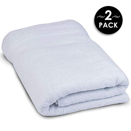 Super Thick and Thirsty 1,000 GSM Turkish Cotton Bath Sheets - Elite Hotel and Spa Quality Organic Cotton Towels (2 Pack, 30x60) ()