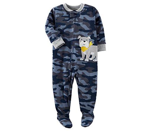 Carter's Boys' 12M-8 Camo Dog Fleece Pajamas Blue 4T